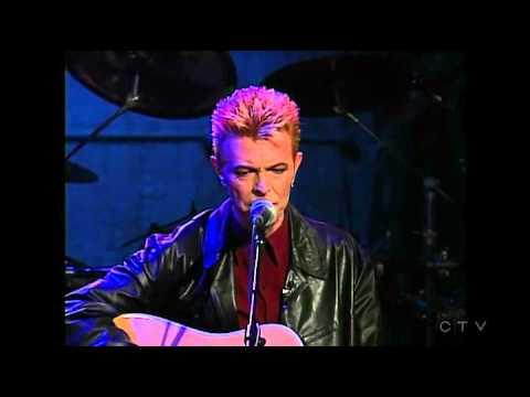Conan O'Brien homage to David Bowie; Dead man walking - acoustic 1997.