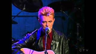 Conan O'Brien homage to David Bowie; Dead man walking - acoustic 1997.
