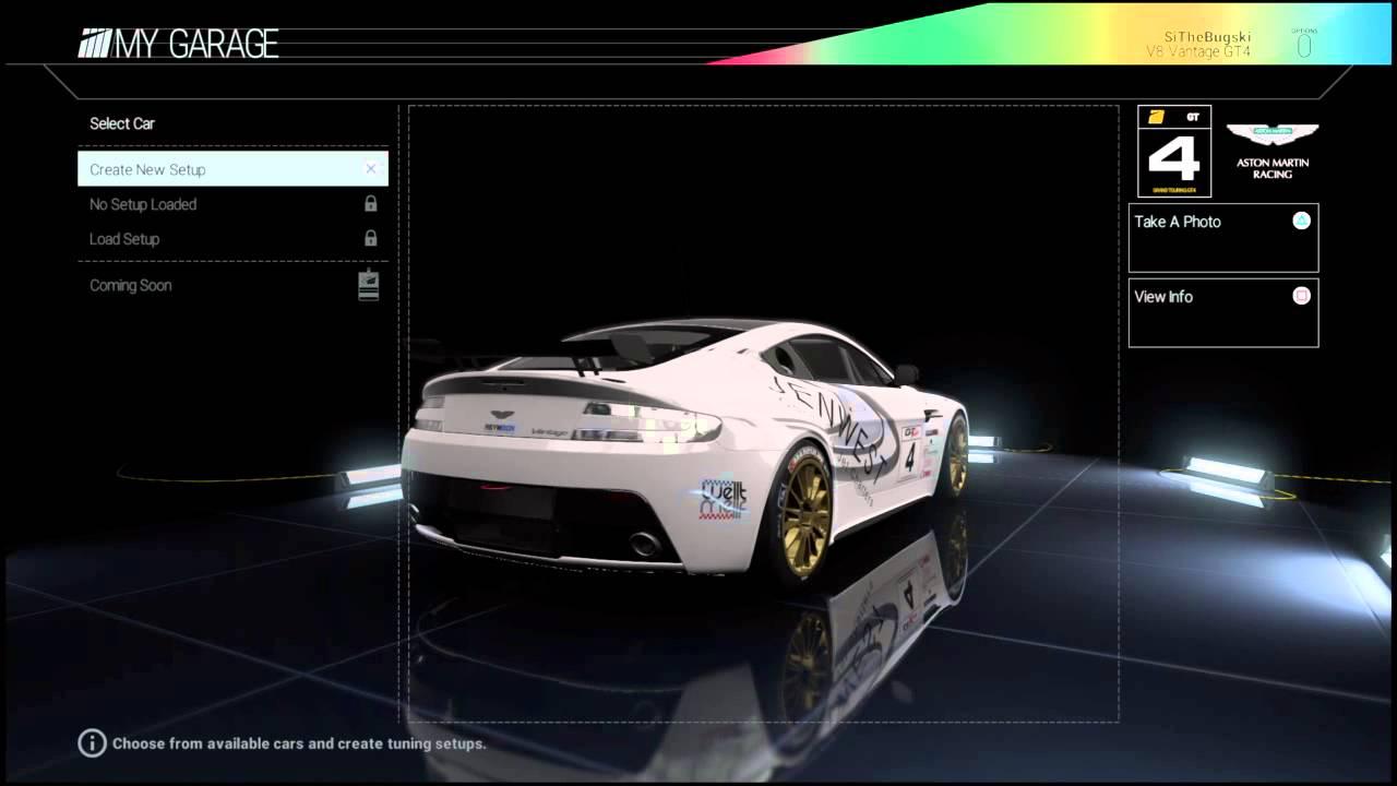 List Cars Project Cars