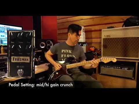 FRIEDMAN BE-OD OVERDRIVE demo by Pete Thorn