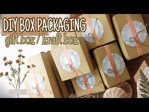 CARA MEMBUAT BOX PACKAGING DARI KARTON | DIY GIFT BOX | KRAFT BOX