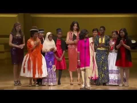 Shanti Bhavan Student Visali Rajaram Accepts Women of the Year Award
