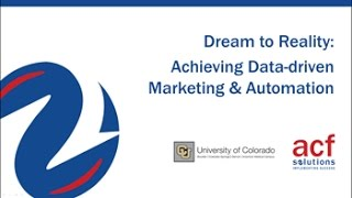 Dream to Reality: Achieving Data-driven Marketing & Automation