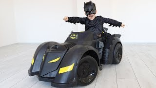 Yusuf Batman Oldu! Kids playing with Superhero car & toys