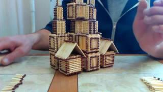 Поделки из спичек | Строим церковь | Урок 3 | Продолжение