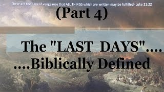 #4) Moses & Deuteronomy 4 (The Last Days....Biblically Defined Series)