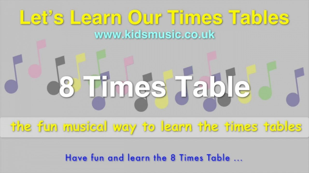 Kidzone lets learn our times tables 8 times table youtube kidzone lets learn our times tables 8 times table gamestrikefo Choice Image