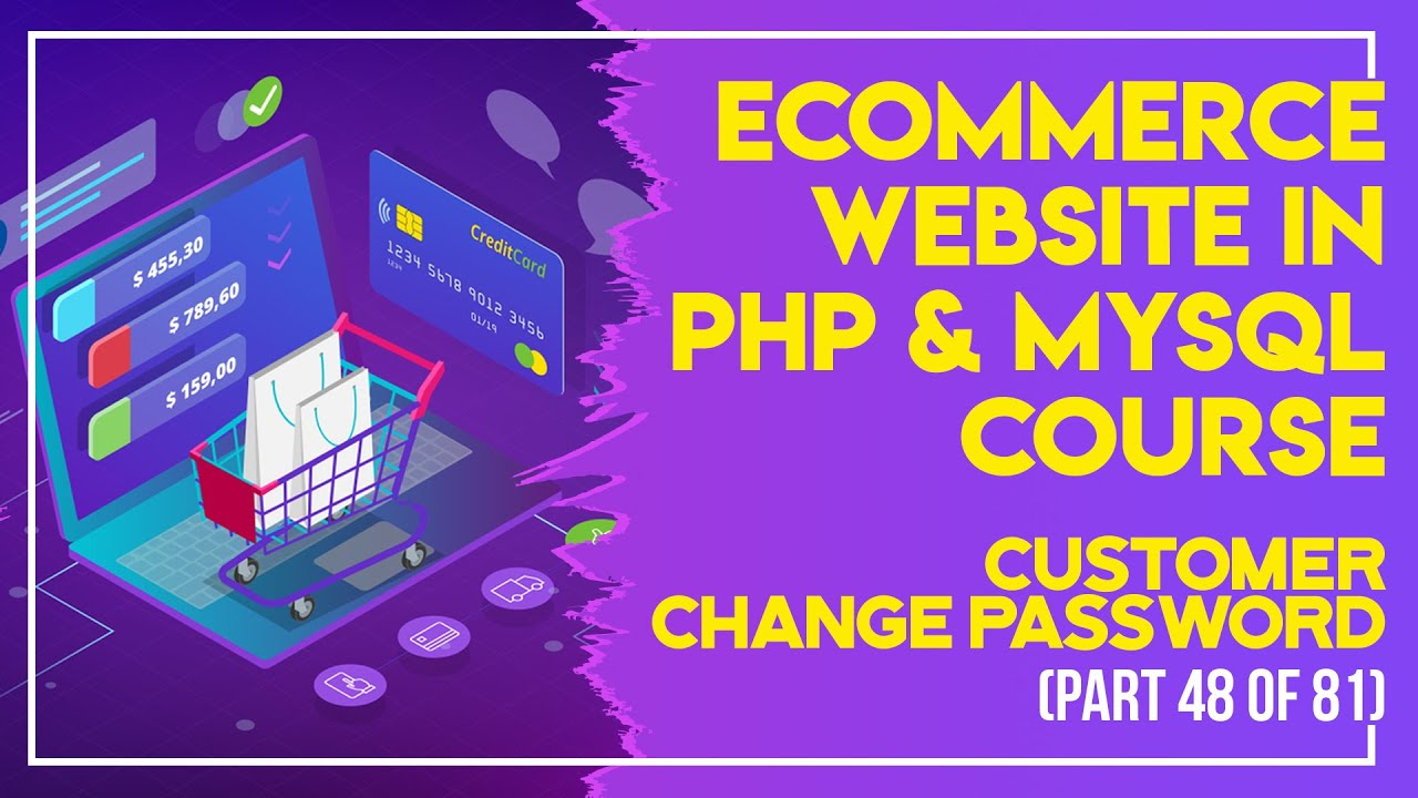 E-Commerce website in PHP & MySQL in Urdu/Hindi part 48 customer edit account