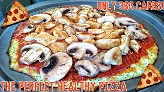 Low Carb Bodybuilding Protein Pizza | Easy Low Calorie Recipe