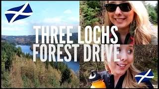AN OLD WOMAN TOLD ME OFF! | THREE LOCHS FOREST DRIVE, SCOTLAND