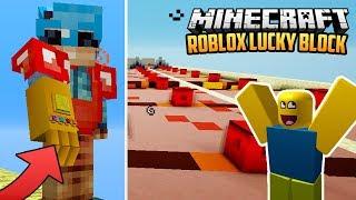 ROBLOX LUCKY BLOCK RACE met THANOS HANDSCHOEN - Minecraft Mod Challenge