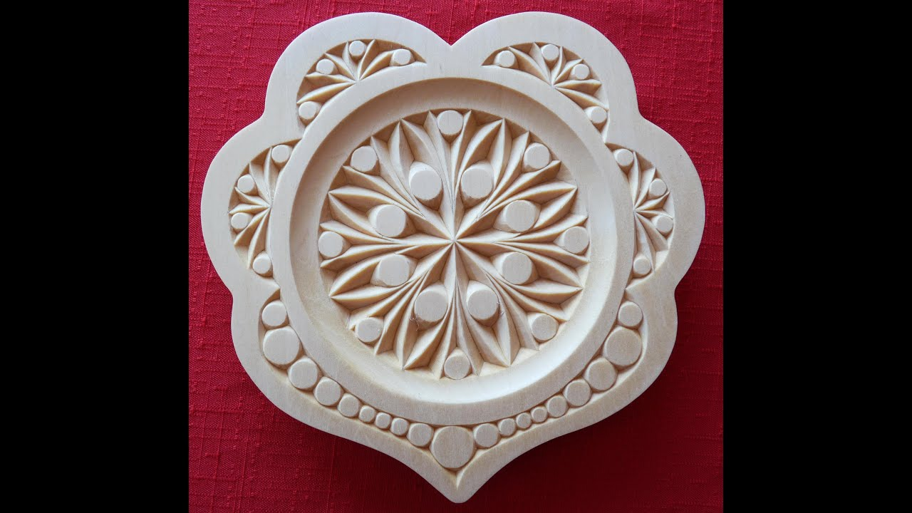 My chip carving quot heart plate youtube