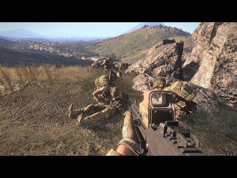 US Rangers In Afghan Desert ! Heavy Combat In Simulator Game Arma 3