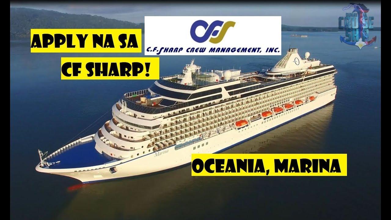 APPLY NA SA OCEANIA CRUISE SHIP By CF SHARP Agency YouTube - Cruise ship hiring agencies