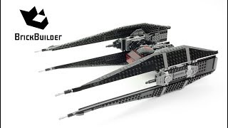 Lego Star Wars 75179 Kylo Ren's TIE Fighter - Lego Speed Build