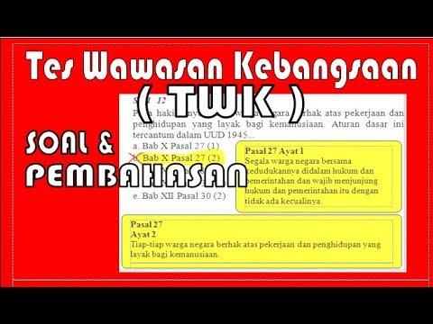 Soal dan Pembahasan Tes Wawasan Kebangsaan TES TWK CPNS