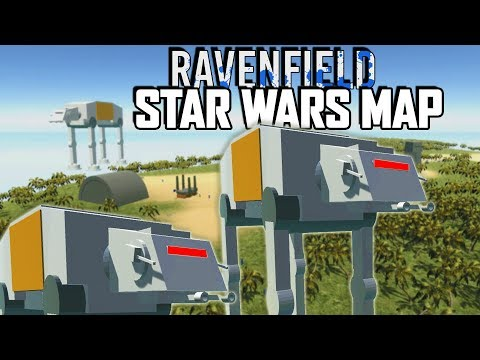 AT-AT Walkers!  THE BEST STAR WARS MAP?  (Ravenfield Beta Gameplay - Alien and Scarif User maps)