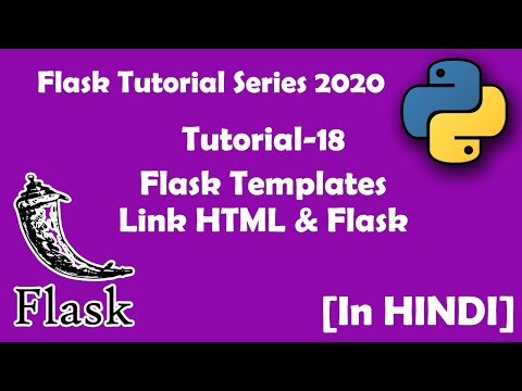 18#[Hindi ] Templates, Linking Flask With HTML | Flask|HTML|CSS|Python3