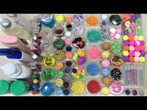 Mixing all my Ingredients into Fluffy Slime !! Relaxing Slimesmoothie Satisfying Slime Videos #65