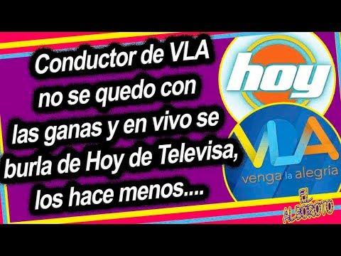 VLA se siente superior a Hoy de Televisa, en vivo los hacen menos...