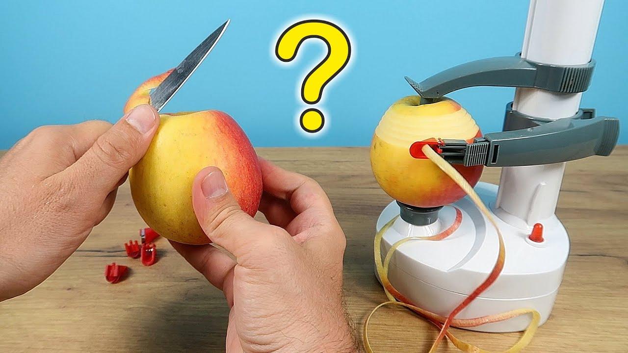 Кто быстрее почистит яблоко? Я или Яблокорезка?
