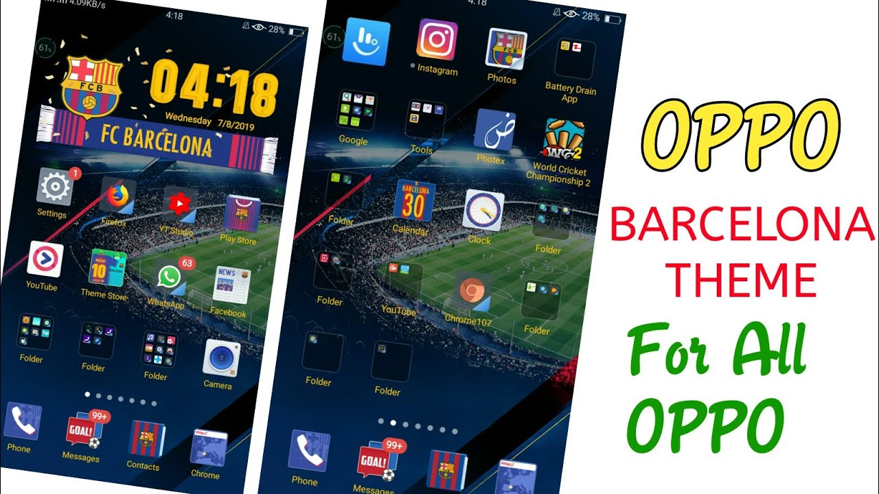 OPPO Barcelona Edition Theme || OPPO New Football Theme