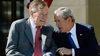 George H.W. Bush biography slams son