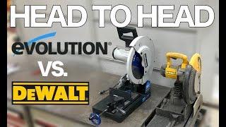 Evolution Evosaw380 VS Dewalt DW872 - Head to Head Comparison!