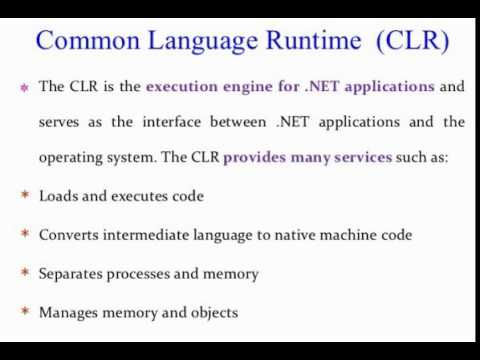 Common Language Runtime in .Net