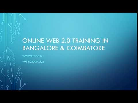 Online Web 2.0 TRAINING IN BANGALORE & COIMBATORE-ETCOE.IN