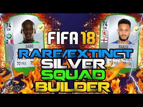 INSANE RARE/EXTINCT SILVER SQUAD BUILDER!! FIFA 18! EXPENSIVE!