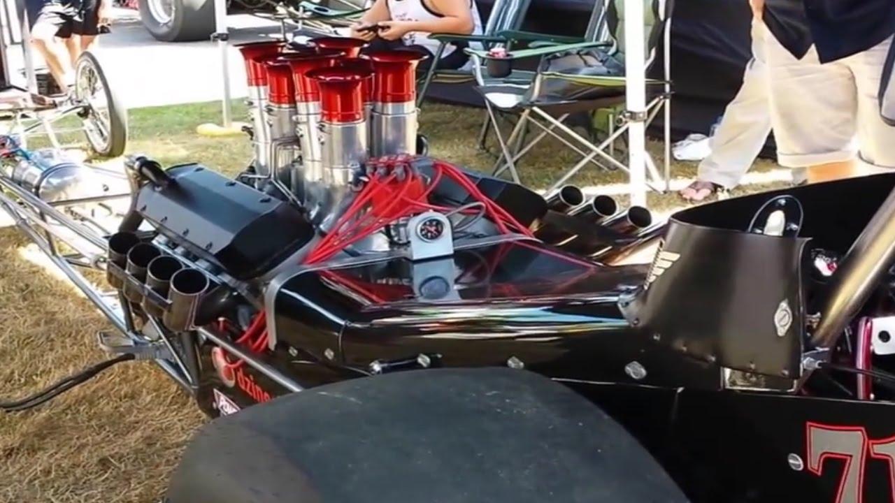 drag racing car 8 2l engine start up 39 n 39 idle youtube. Black Bedroom Furniture Sets. Home Design Ideas
