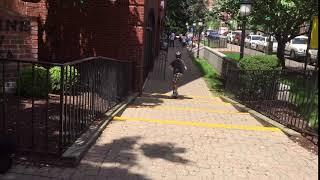 Scooter  jumps near Citibank