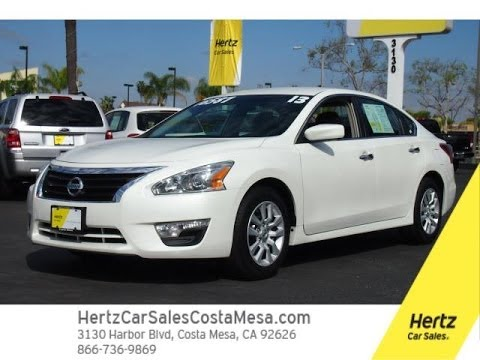 Thumbnail: 2013 White Altima S 2.5 Hertz Car Sales Costa Mesa 714-434-3721