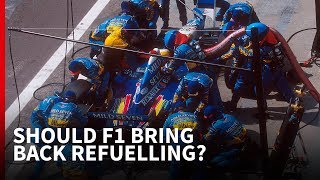 Why it's a bad idea to call for refuelling in F1