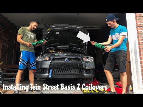 Installing Tein Street Basis Z Coilovers On Mitsubishi Lancer