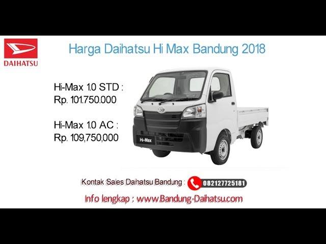 Harga Daihatsu Hi-Max 2018 Bandung dan Jawa Barat | 082127725181