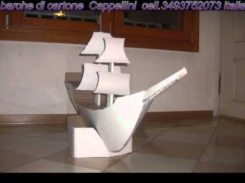Barche di cartone youtube for Arredi di cartone