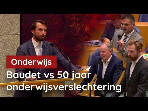 Kamer verbijsterd. Baudet VLOERT 50 jaar onderwijsbeleid!