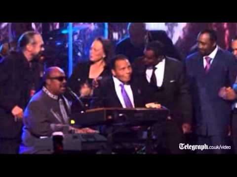 Stevie Wonder sings at Muhammad Ali's 70th birthday celebrations