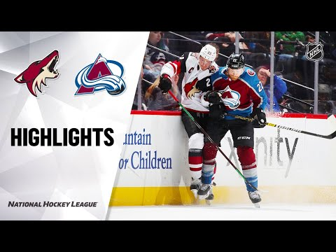 Coyotes @ Avalanche 10/12/19 Highlights