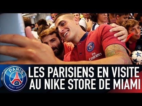 LES PARISIENS EN VISITE AU NIKE STORE DE MIAMI