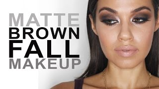 Matte Brown Fall Makeup | Eman