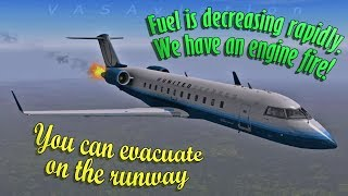 [REAL ATC] Mesa Airlines CRJ-700 FIRE WARNING + FUEL LEAK!