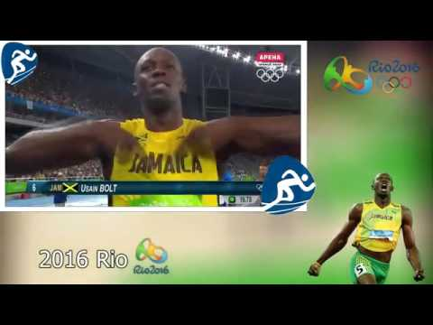 Usain BOLT All Olympic Races (2008 2016)