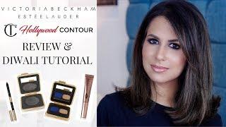 VICTORIA BEKHAM x ESTEE LAUDER + CT CONTOUR | Review & Diwali Makeup Tutorial | JASMINA PURI