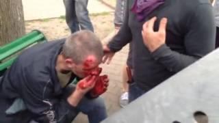 Одесса, 02.05.2014. Пленного колорада от суда Линча спасает