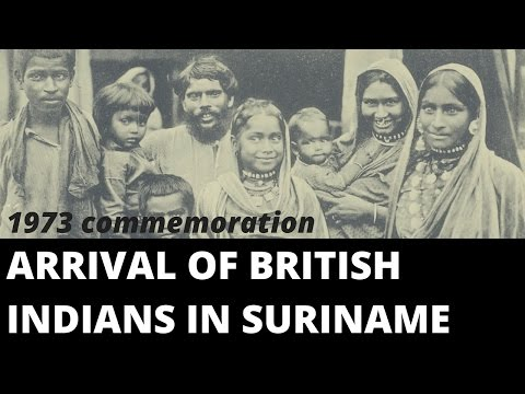 Arrival of British Indians in Suriname commemoration