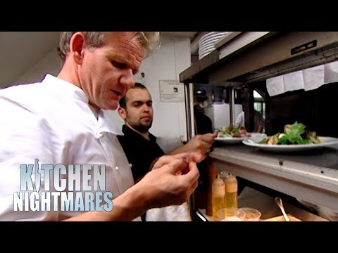 """IT'S F***ING RAW!""   Kitchen Nightmares"