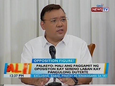 Palasyo: Mali ang paggamit ng oposisyon kay Sereno laban kay Pangulong Duterte